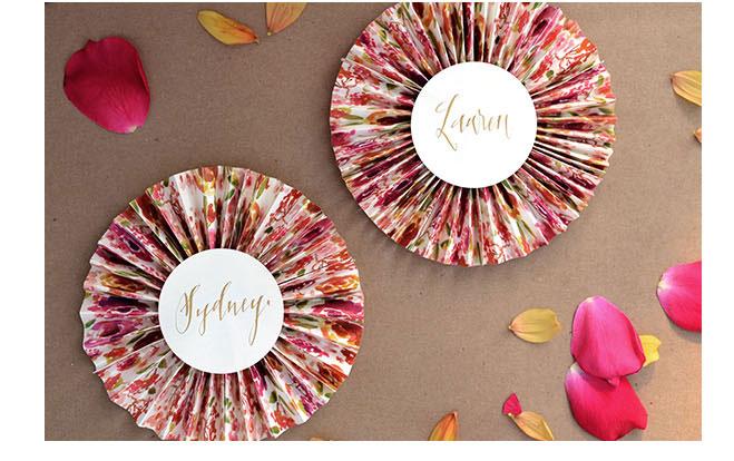 折り紙の 折り紙のリボンの作り方 : 花柄のロゼット : ♥簡単なのに ...